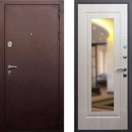 Фото двери ДМ 5А Зеркало Беленый дуб