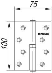 Фото двери Петля Fuaro (Фуаро) съемная 413-4 100x75x2,5