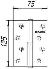Фото двери Петля Fuaro (Фуаро) съемная 413-5 125x75x2,5