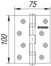 Фото двери Петля Fuaro (Фуаро) универсальная 2BB 100x75x2,5