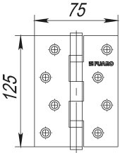 Фото двери Петля Fuaro (Фуаро) универсальная 2BB/BL 125x75x2,5 SB