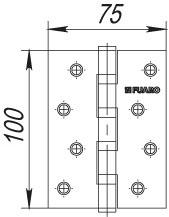 Фото двери Петля Fuaro (Фуаро) универсальная 4BB/BL 125x75x2,5