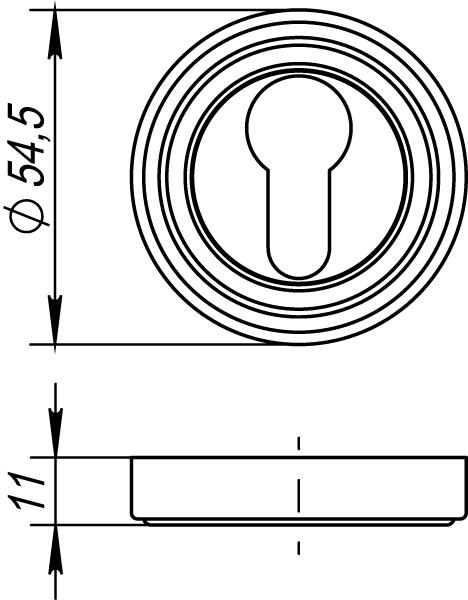 Фото двери Накладка под Punto (Пунто) цилиндр ET ML