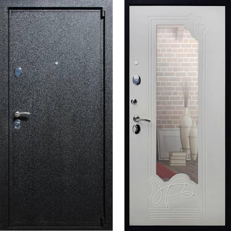 Фото двери ДМ 3 Зеркало Ясень белый