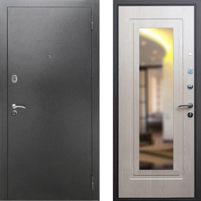 Фото двери ДМ 2A Зеркало Беленый дуб