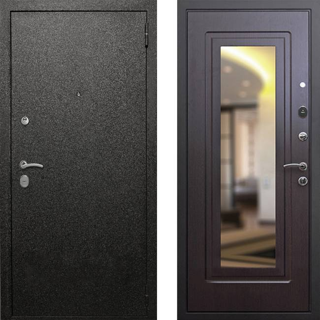 Фото двери ДМ Верона 6 Зеркало Венге