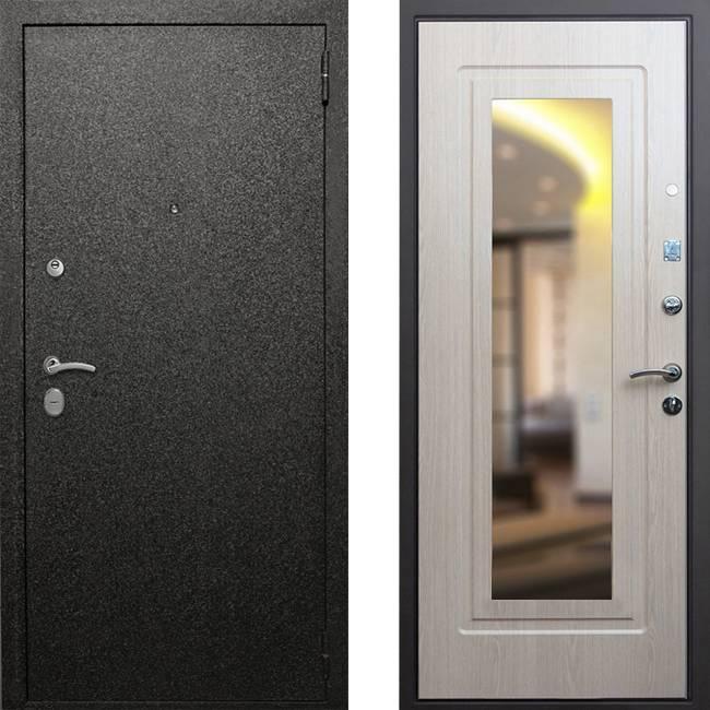 Фото двери ДМ Верона 6 Зеркало Беленый Дуб