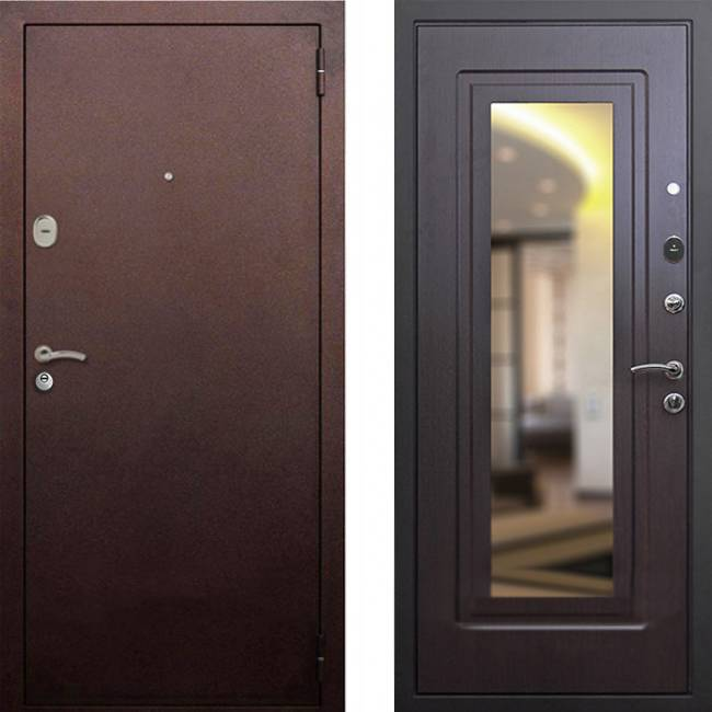 Фото двери ДМ 1А Зеркало Венге