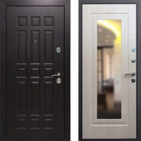 Фото двери ДМ 8 Зеркало Беленый дуб