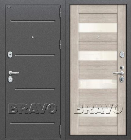 Фото двери Т2-223 Cappuccino Veralinga/White Pearl