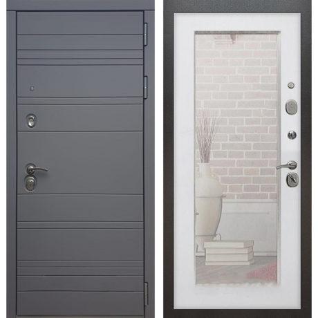 Фото двери ДМ 14 Зеркало пастораль Белый ясень