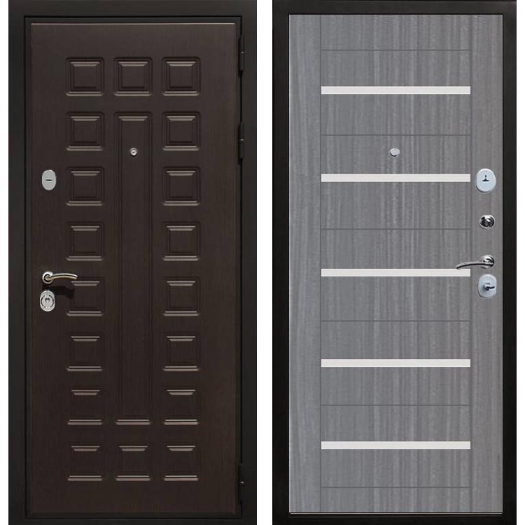 Фото двери ДМ Премиум 3 CБ-14 Лиственница серая +белое стекло