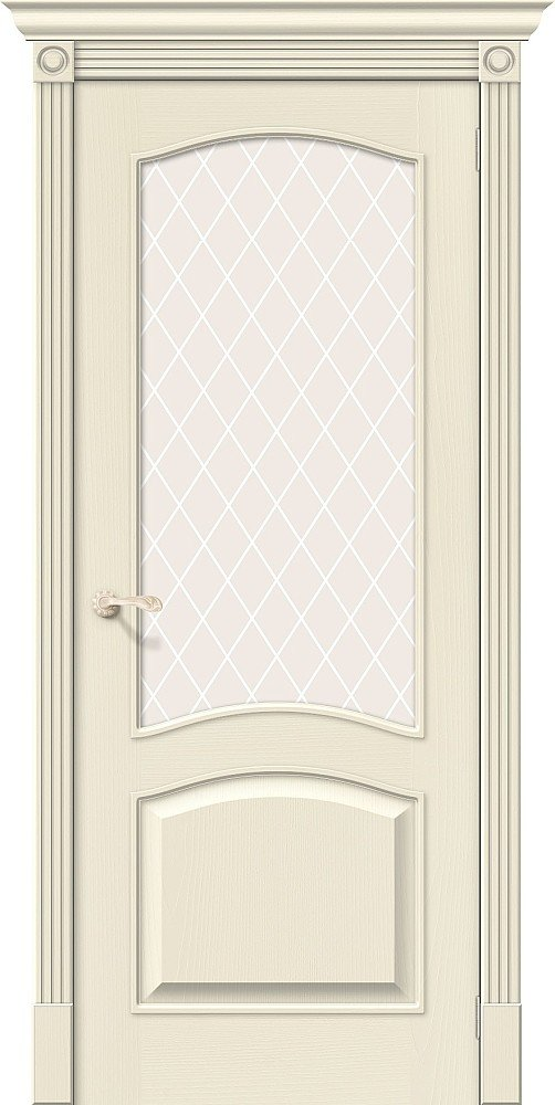 Фото двери Вуд Классик-33 White Сrystal