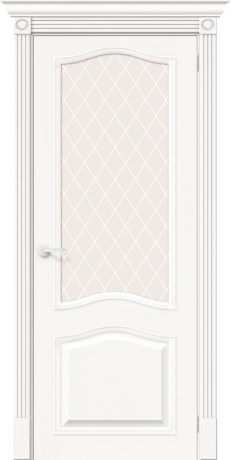 Фото двери Вуд Классик-55 White Сrystal